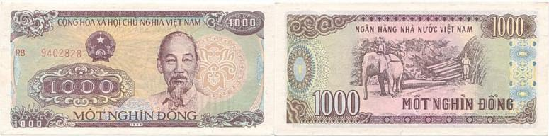 1,000vnd equivalent to 0.04 USD (4cent)