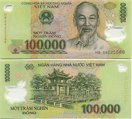100,000vnd equivalent to 4.4 USD