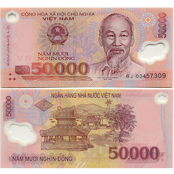 50,000vnd equivalent to 2.2 USD